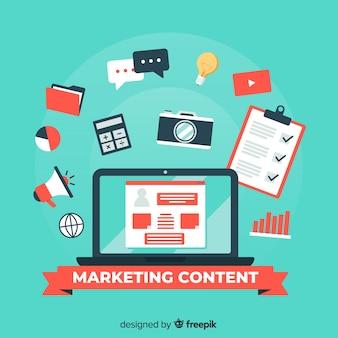 Concetto di contenuto di marketing