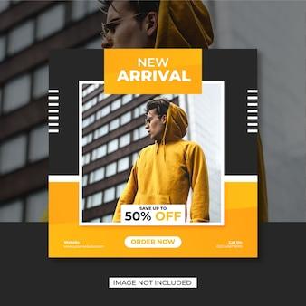 Marketing moda banner vendita social media post modello