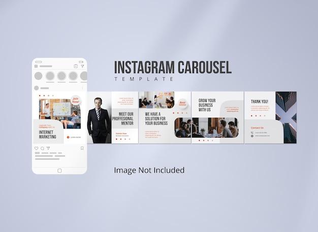 Post di marketing su instagram carousel