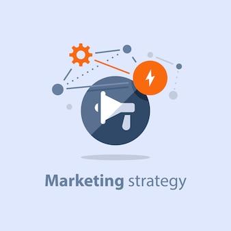 Illustrazione del piano di strategia di marketing