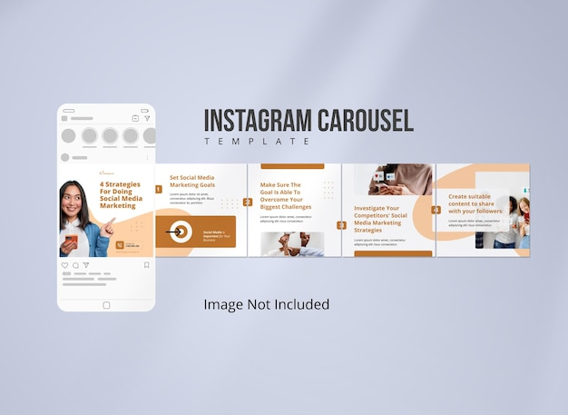 Strategia di marketing per i social media instagram carousel post