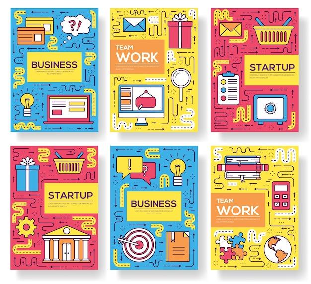 Modello di marketing di illustrazione flyear