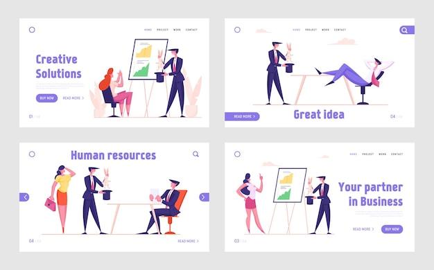Trucco di marketing e set di modelli di pagina di destinazione magica aziendale