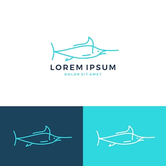 Logo marlin fish