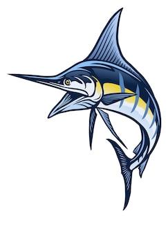 Mascotte del pesce marlin