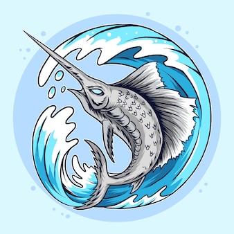 Pesce spada marlin.