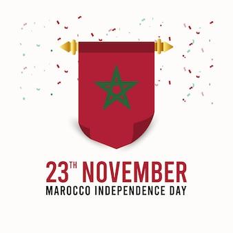 Modello di progettazione del giorno dell'indipendenza del marocco