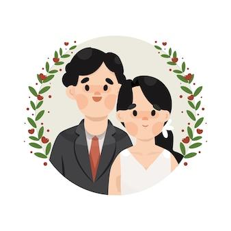 Illustrazione di matrimonio