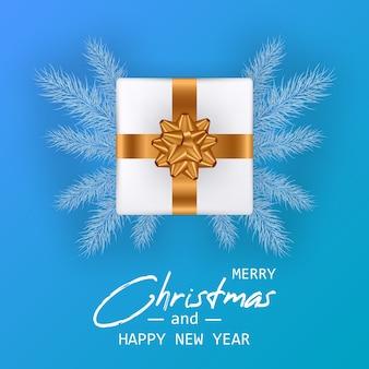 Buon natale e felice anno nuovo card. banner di natale.