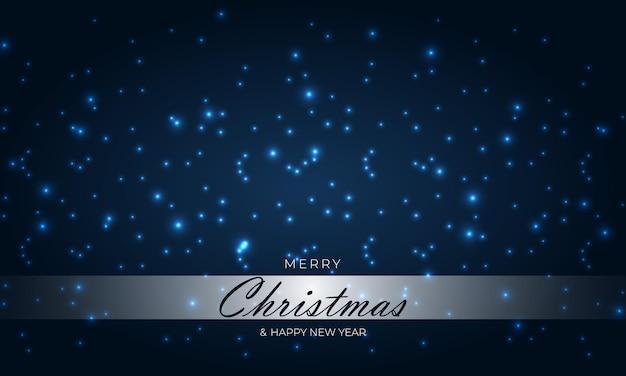 Buon natale e felice anno nuovo sfondo blu scuro con punti mezzatinta