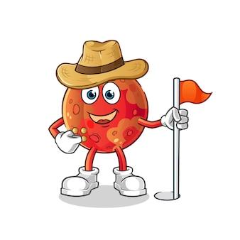 Mars scout illustrazione