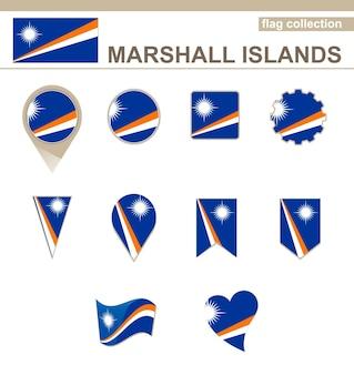 Collezione di bandiere delle isole marshall, 12 versioni