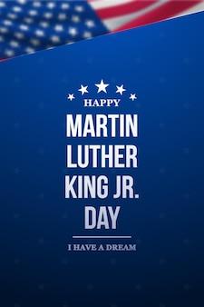 Striscione per la giornata di martin luther king jr