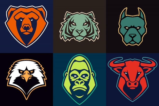 Set di animali mascotte