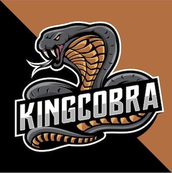 Logo mascotte re cobra esport