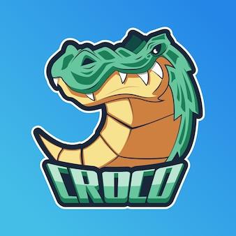 Logo della mascotte con coccodrillo