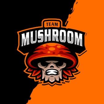 Logo della mascotte di mashroom esport
