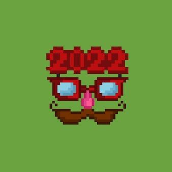 Maschera 2022 con stile pixel art