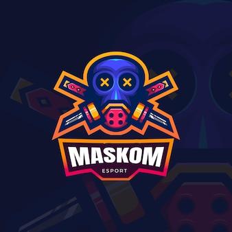 Maschera uomo logo