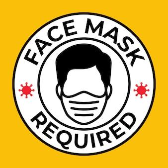 Maschera richiesta, pericolo di gas, respiratore ware, pericolo di polvere, virus, corona, covid-19