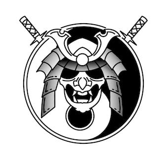 Maschera samurai semplice