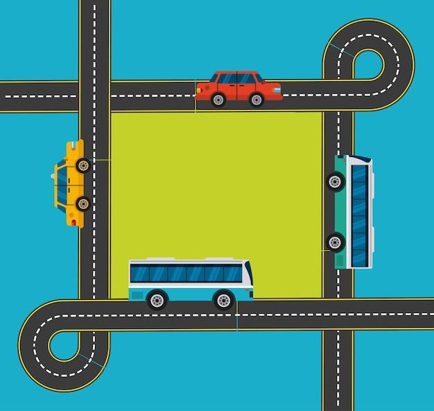 Progettazione di trasporto di massa, grafico dell'illustrazione eps10 di vettore