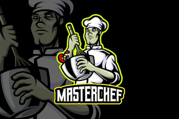 Master chef - modello logo esport