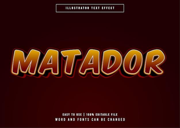 Stile modificabile effetto testo matador