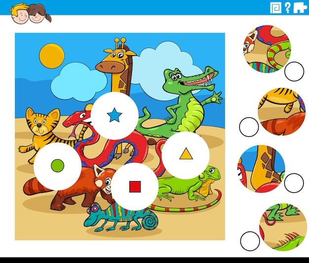 Abbina i pezzi con i personaggi degli animali dei cartoni animati
