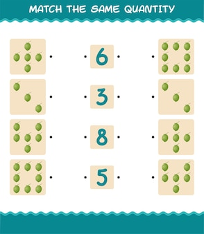 Abbina la stessa quantità di cocco. conteggio del gioco. gioco educativo per bambini e bambini in età prescolare