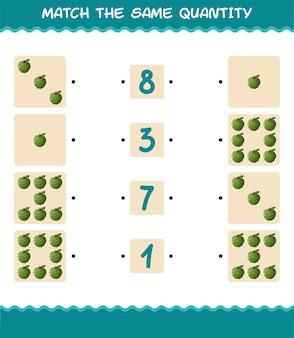 Abbinare la stessa quantità di mela cannella. conteggio del gioco. gioco educativo per bambini e bambini in età prescolare