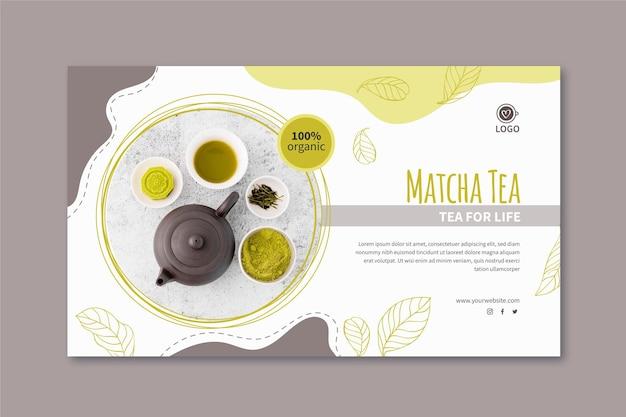 Modello di banner di tè matcha