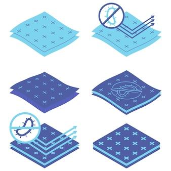 Materiale con superficie di protezione antimicrobica e antivirale per le mani del corpo e l'igiene del bambino