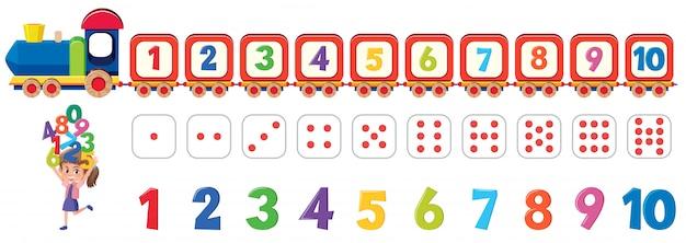 Elemento numerico di dadi matematici