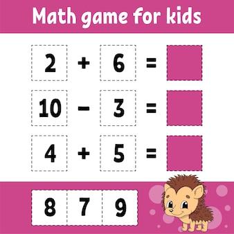 Gioco di matematica per bambini.