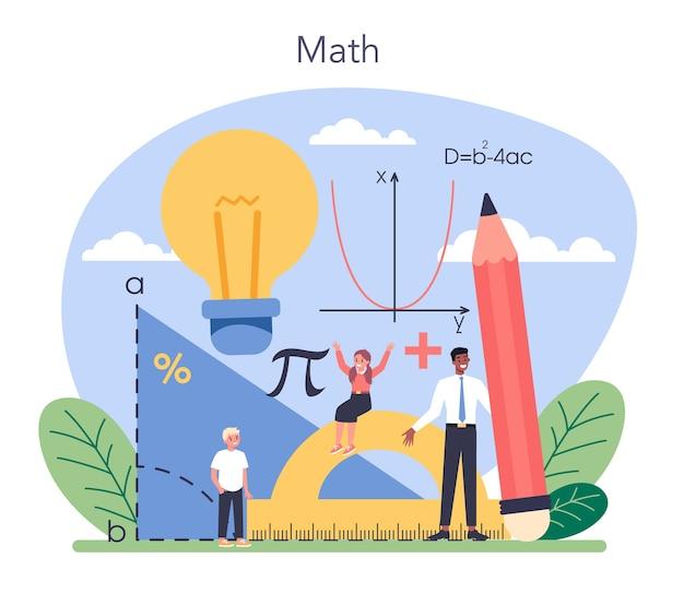Materia scolastica di matematica.