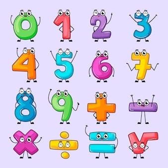 Raccolta di simboli matematici disegnati a mano