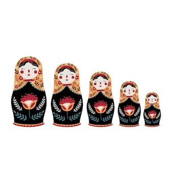 Matrioska bambola russa di nidificazione cultura tradizionale russa giocattolo popolare bambola babushka