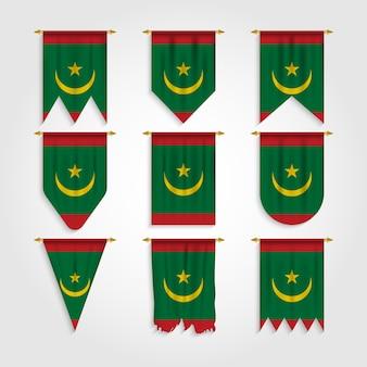 Bandiera della mauritania in diverse forme, bandiera della mauritania in varie forme