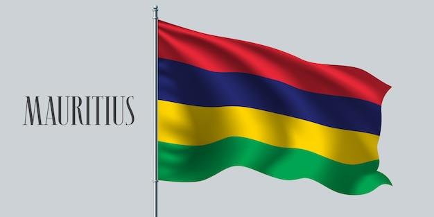 Mauritius sventolando bandiera