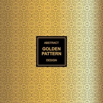 Mayan abstract golden light pattern design