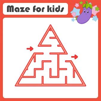Labirinto. gioco per bambini. labirinto divertente foglio di lavoro per lo sviluppo dell'istruzione.