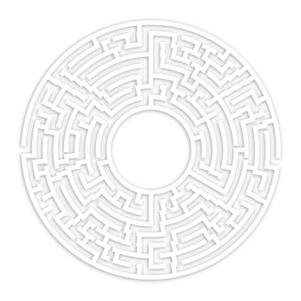 Labirinto o labirinto disegno vettoriale geometrico. idea o prendere una decisione concept