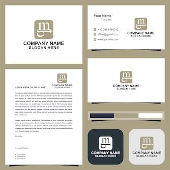 Mb monogramma logo design premium