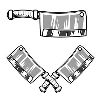 Illustrazione della mannaia di carne