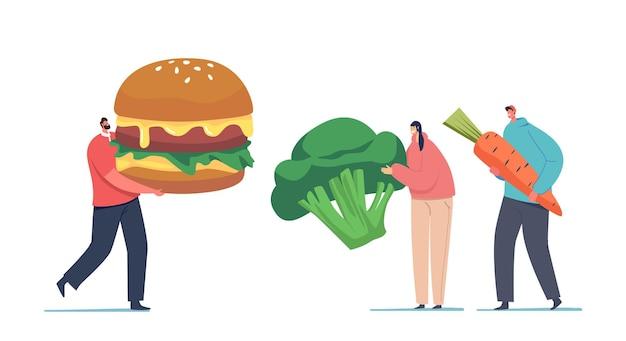Mangiatore di carne vs scelta di pasti vegetariani