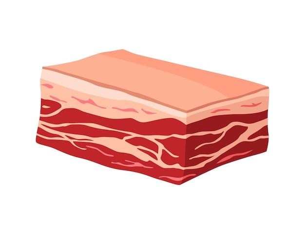 Prodotto a base di carne o carne cruda. illustrazione per il concetto di prodotto del mercato degli agricoltori o del negozio. sponder