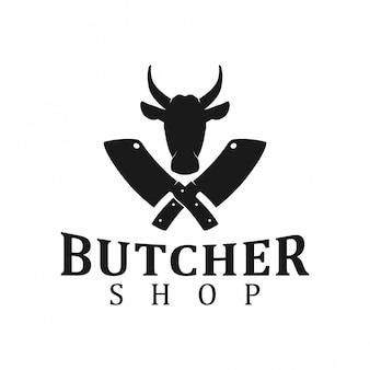 Logo del negozio di carne