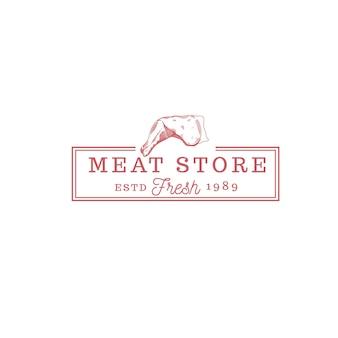 Logo vintage cibo negozio di carne
