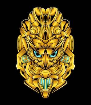 Mecha design robot arte ornamento d'oro
